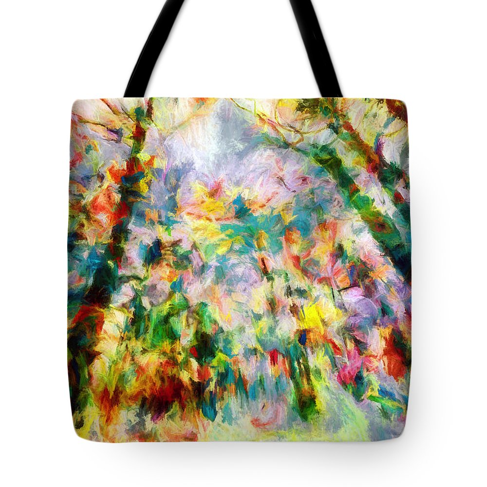 Abstract Tote Bag featuring the photograph Winter Color by Tina Baxter