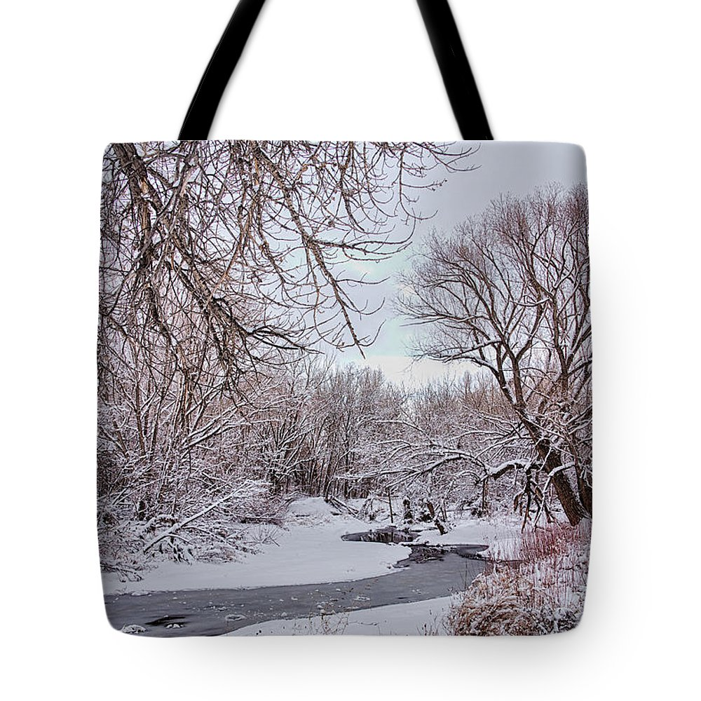 Winter Tote Bag featuring the photograph Winter Creek by James BO Insogna
