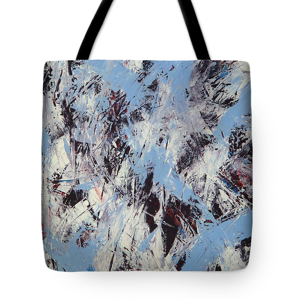 Abstract Tote Bag featuring the painting Winter by Dean Triolo