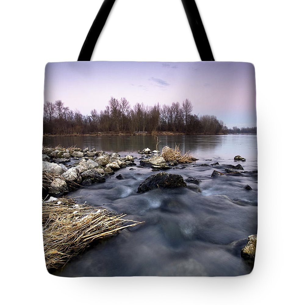 Landscapes Tote Bag featuring the photograph Winter Evening by Davorin Mance