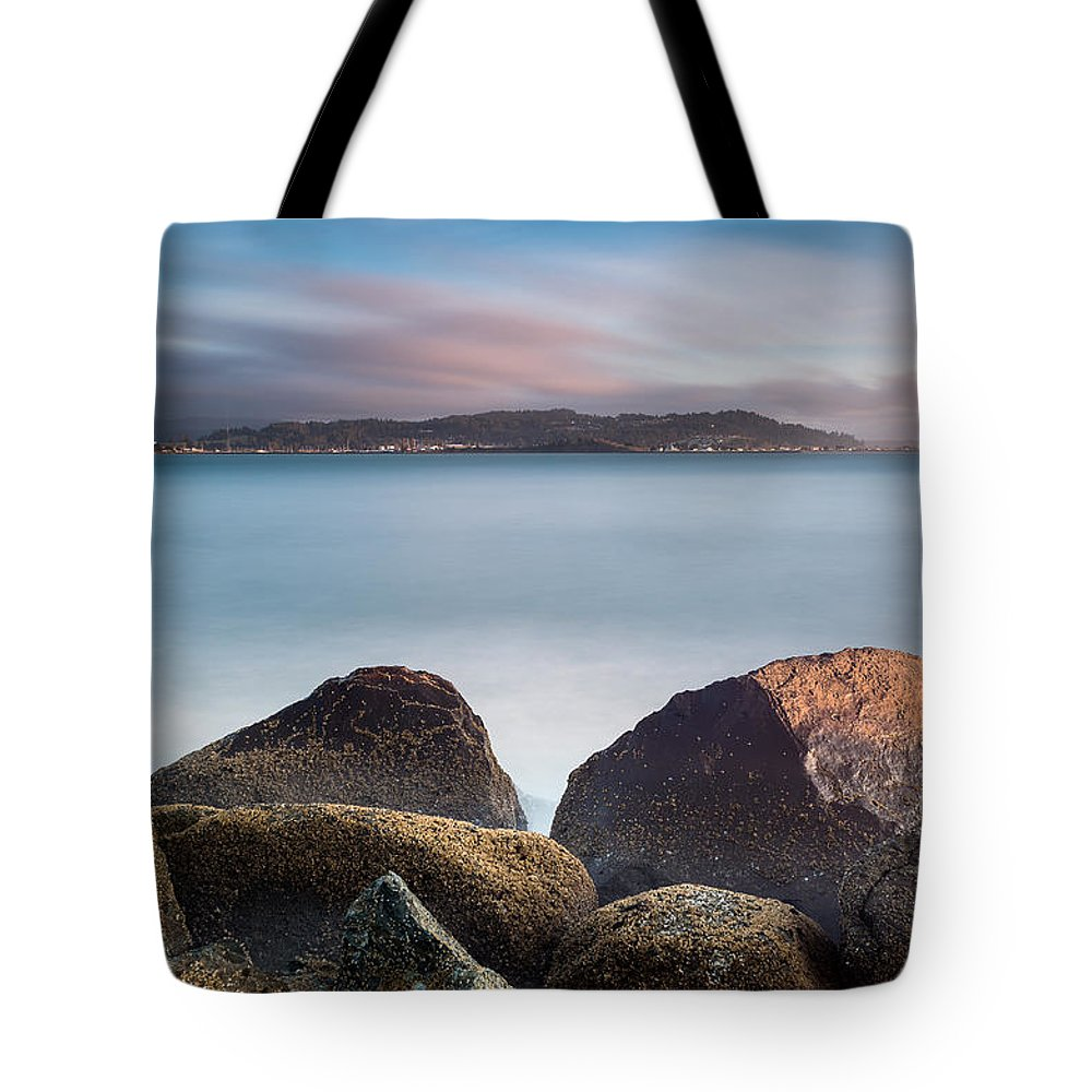 Humboldt Bay Tote Bag featuring the photograph Winter Evening On Humboldt Bay by Greg Nyquist