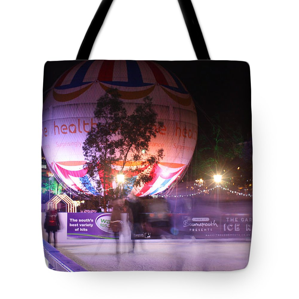 Ice Rink Tote Bag featuring the photograph Winter Gardens Ice Rink And Balloon Bournemouth by Terri Waters