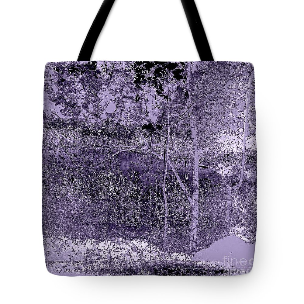 Landscape Tote Bag featuring the digital art Winter Is Approaching by Iris Gelbart