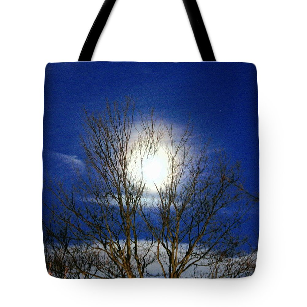 Moon Tote Bag featuring the photograph Winter Moon by Kevin F Cook