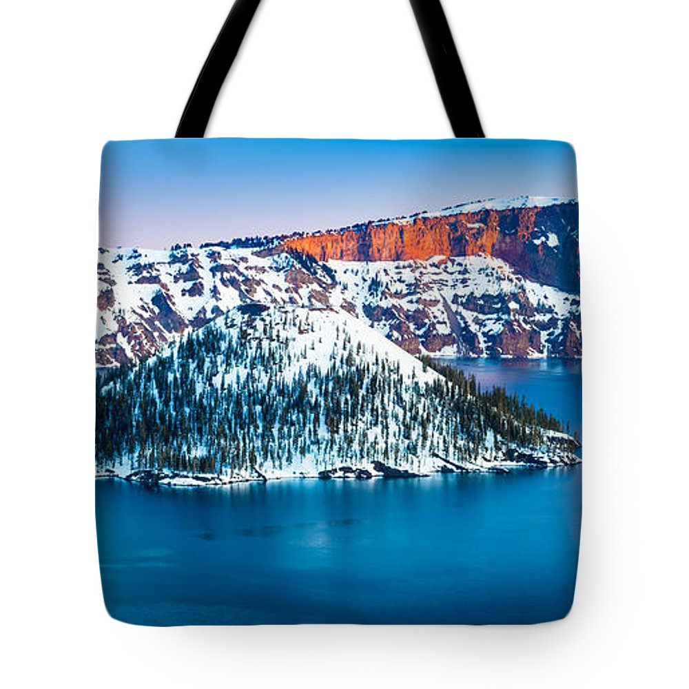 America Tote Bag featuring the photograph Winter Morning At Crater Lake by Inge Johnsson