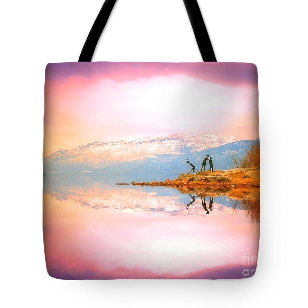 Winter Tote Bag featuring the photograph Winter Morning At Okanagan Lake by Tara Turner