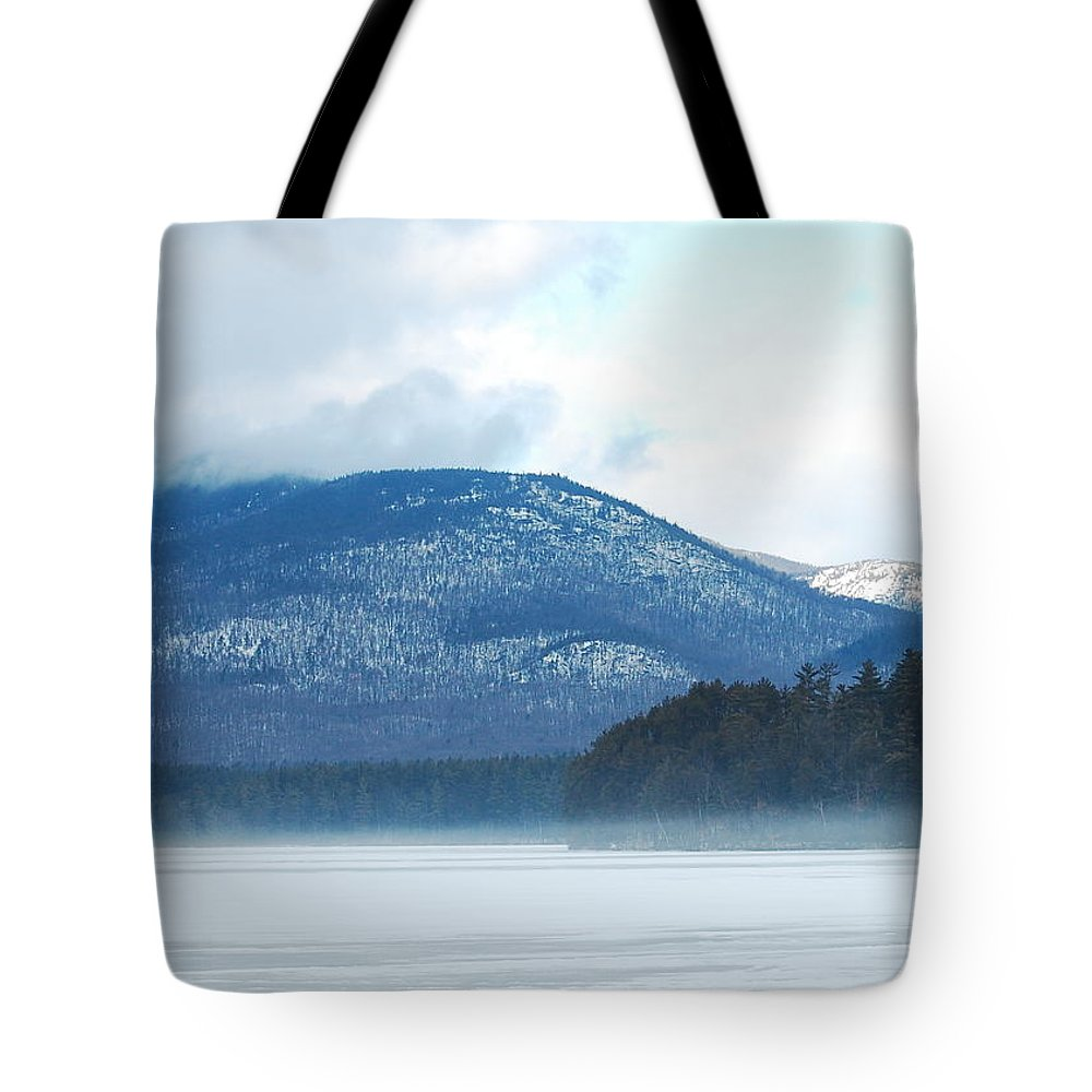 Cold Tote Bag featuring the photograph Winter Mountain by Mim White
