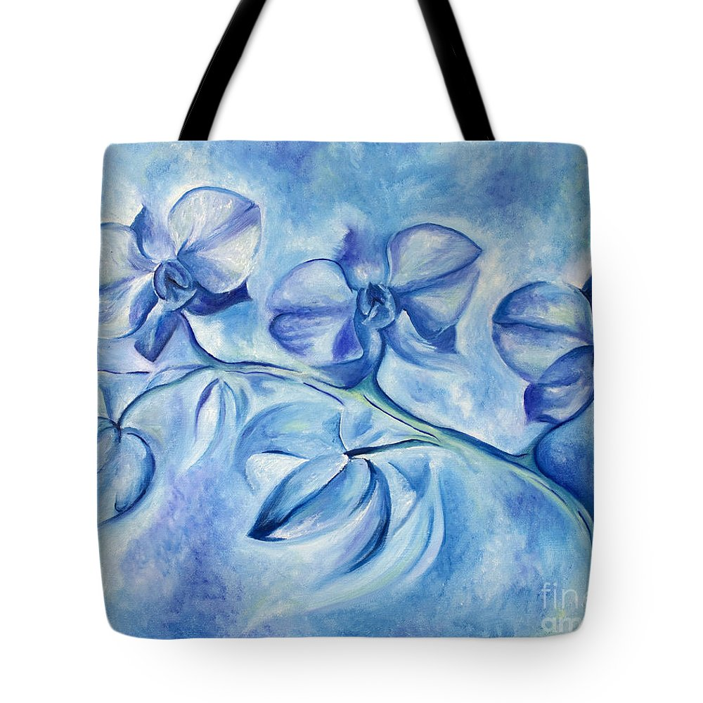Orchids Tote Bag featuring the painting Winter Orchids by Jen Callison