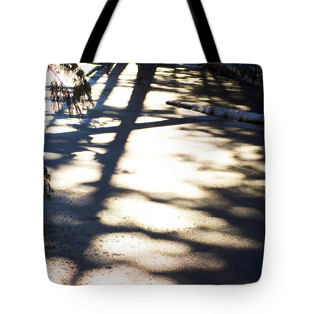 Winter Landscape Tote Bag featuring the photograph Winter Shadows by Yulia Kazansky