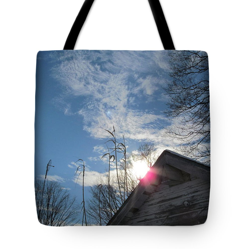 Sky Tote Bag featuring the photograph Winter Sky On Midday by Tina M Wenger