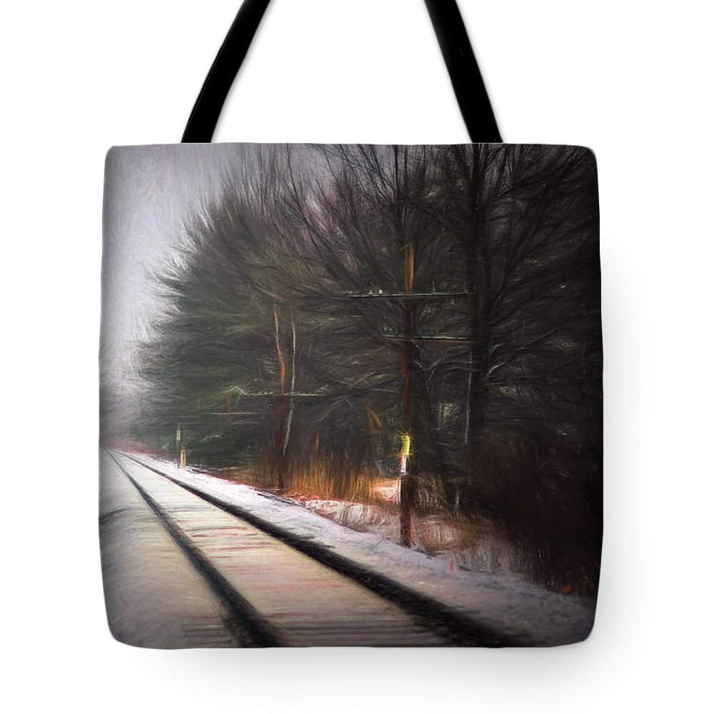 Winter Tote Bag featuring the digital art Winter Splash Xxxiii by Tina Baxter