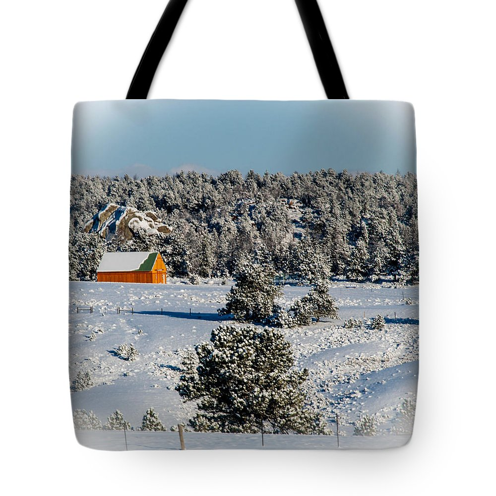 Snow Tote Bag featuring the photograph Winter Wonderland by Cathy Smith