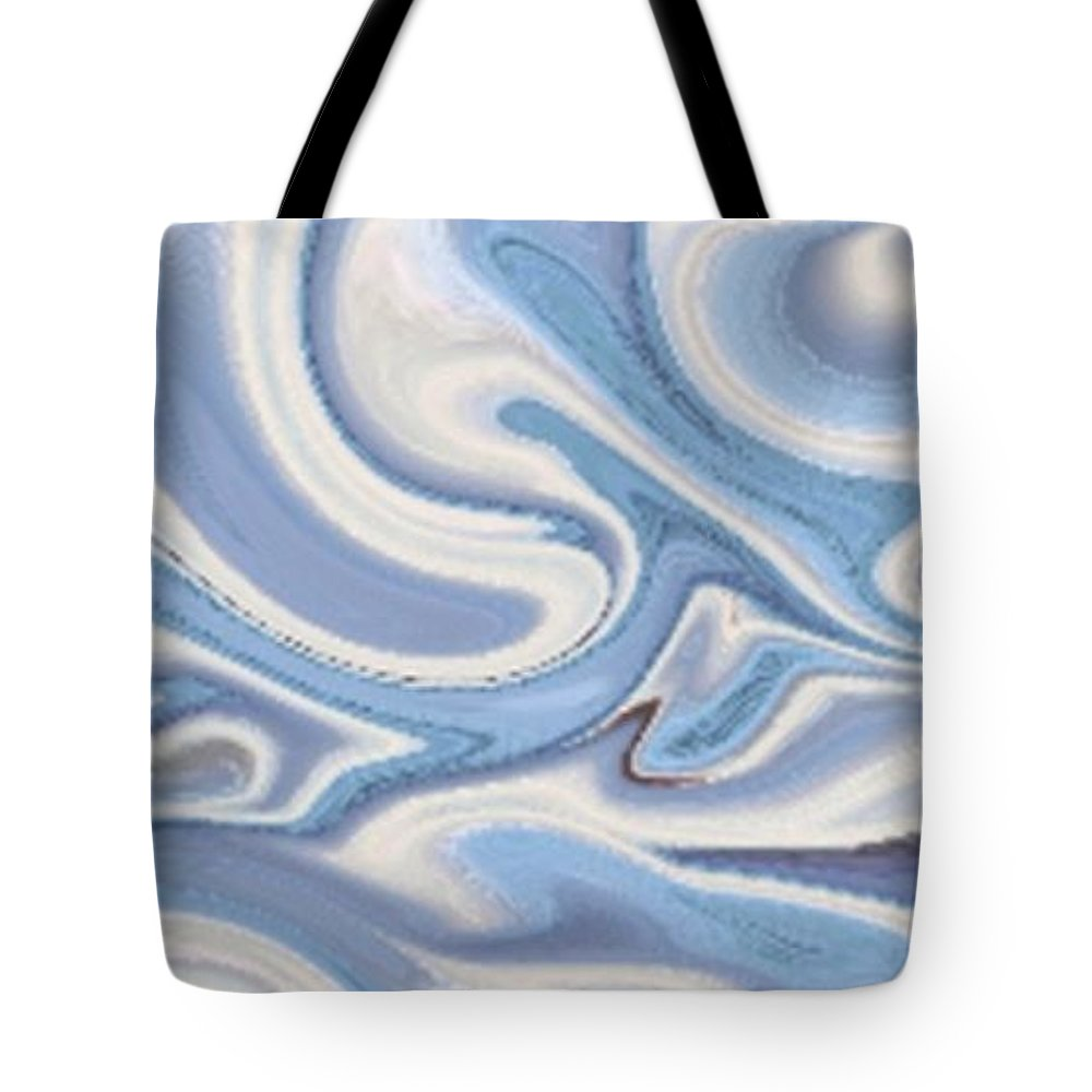 Winter Tote Bag featuring the pastel Winter Wonderland by Vicki Lynn Sodora