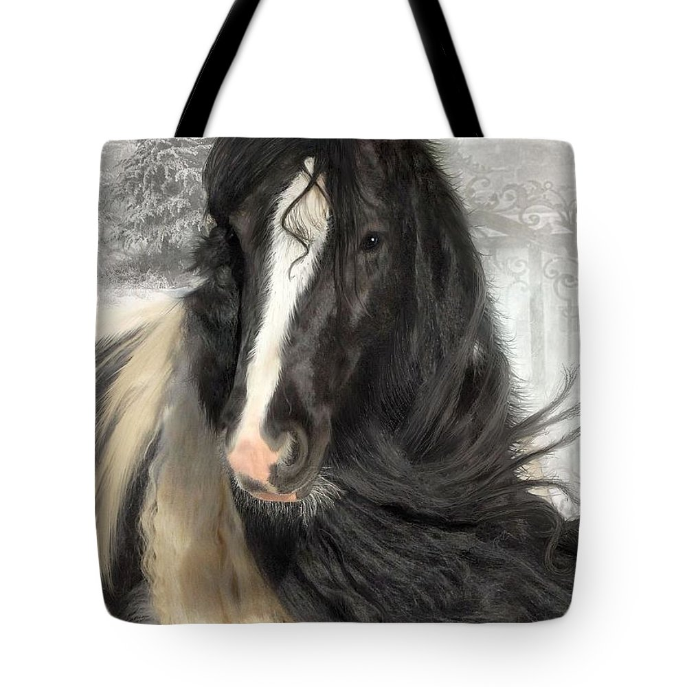 Gypsy Horses Tote Bag featuring the photograph Winter Woolies by Fran J Scott