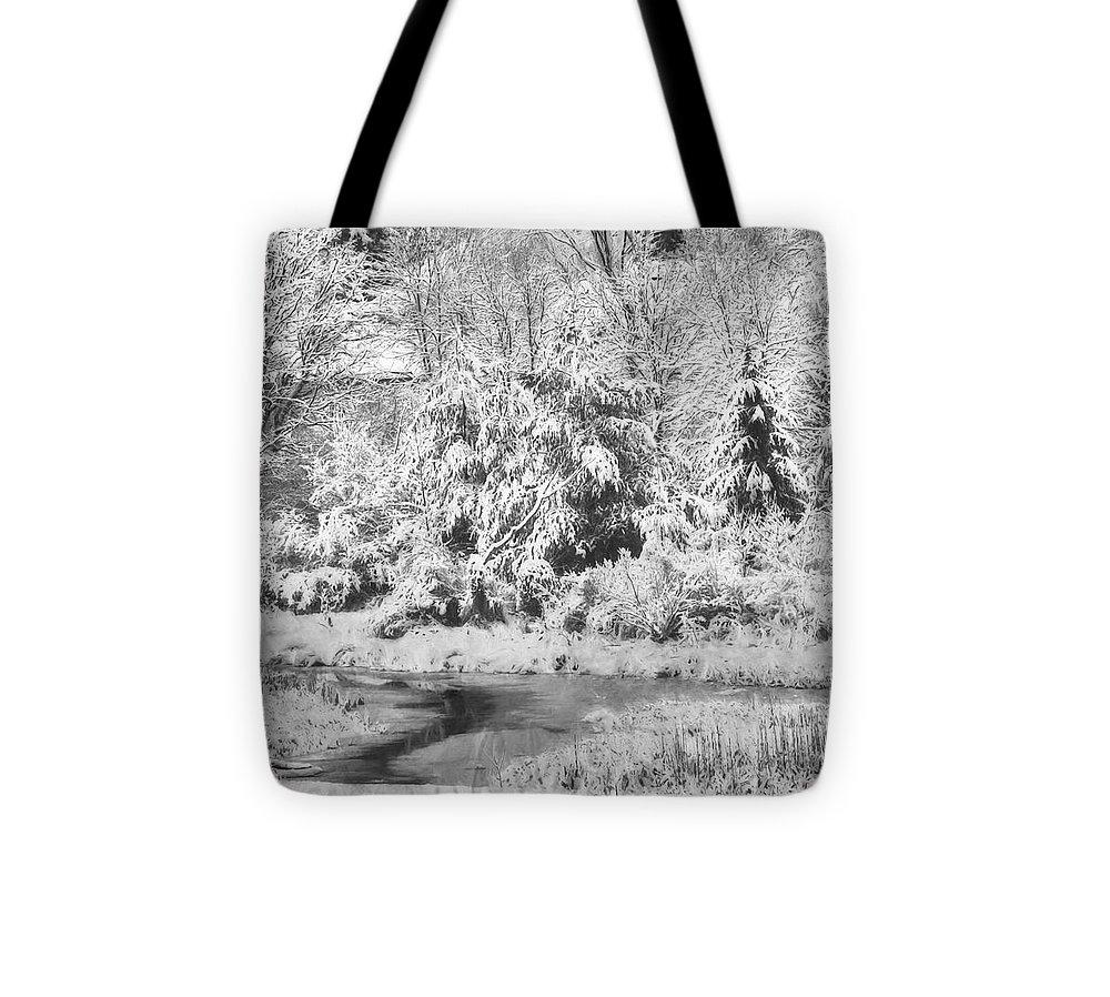 Landscape Tote Bag featuring the photograph Winter's Grip by Jo-Anne Gazo-McKim