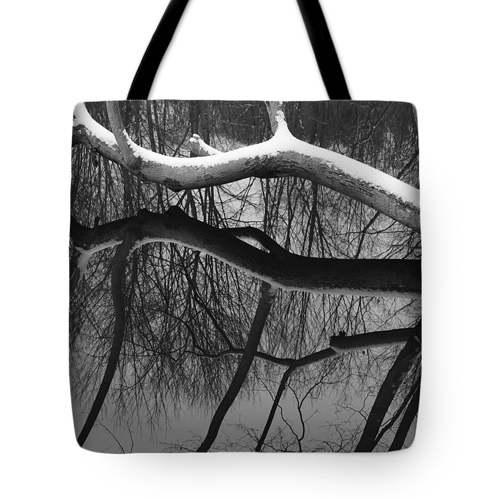Branch Tote Bag featuring the photograph Winter's Touch by Luke Moore