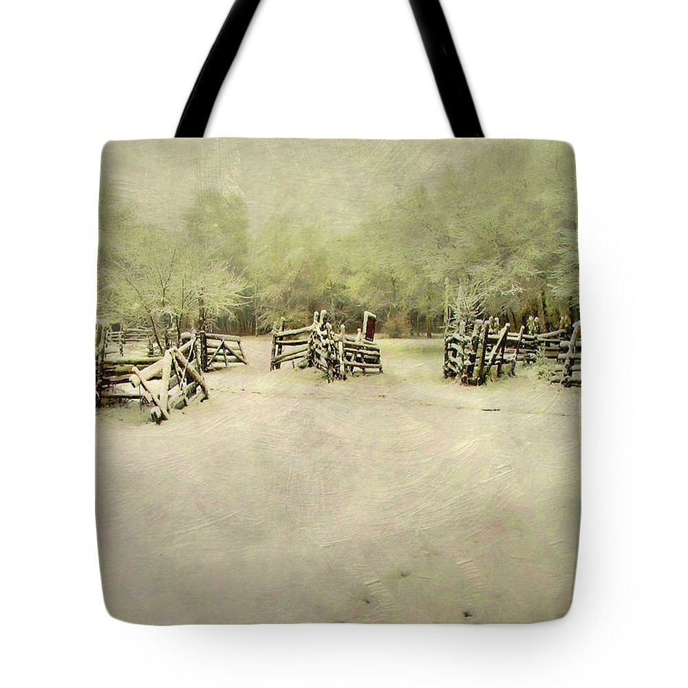 Cold Tote Bag featuring the photograph Wintertime by David and Carol Kelly