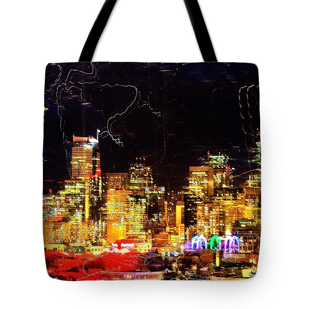 Seattle Tote Bag featuring the photograph Wired Seattle by Benjamin Yeager
