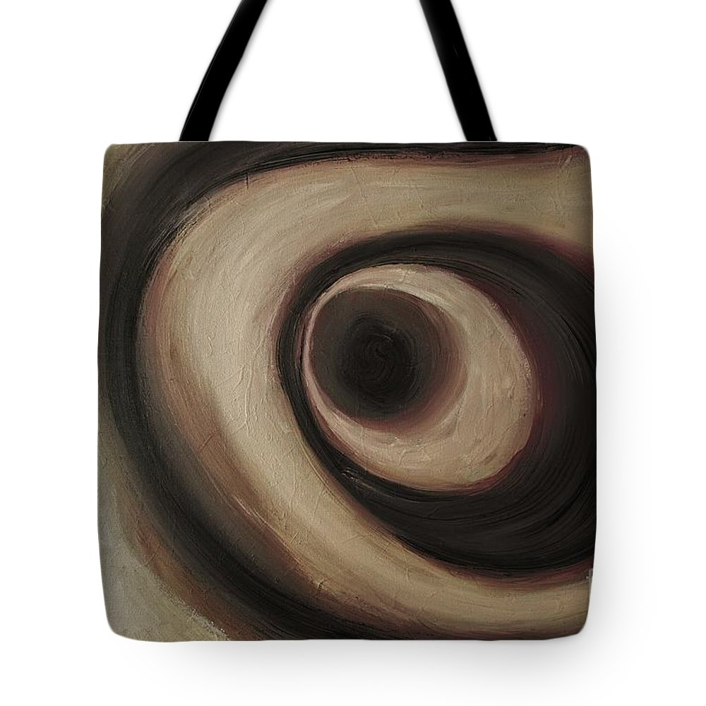 Abstract Tote Bag featuring the painting Wise Guy by Wayne Cantrell