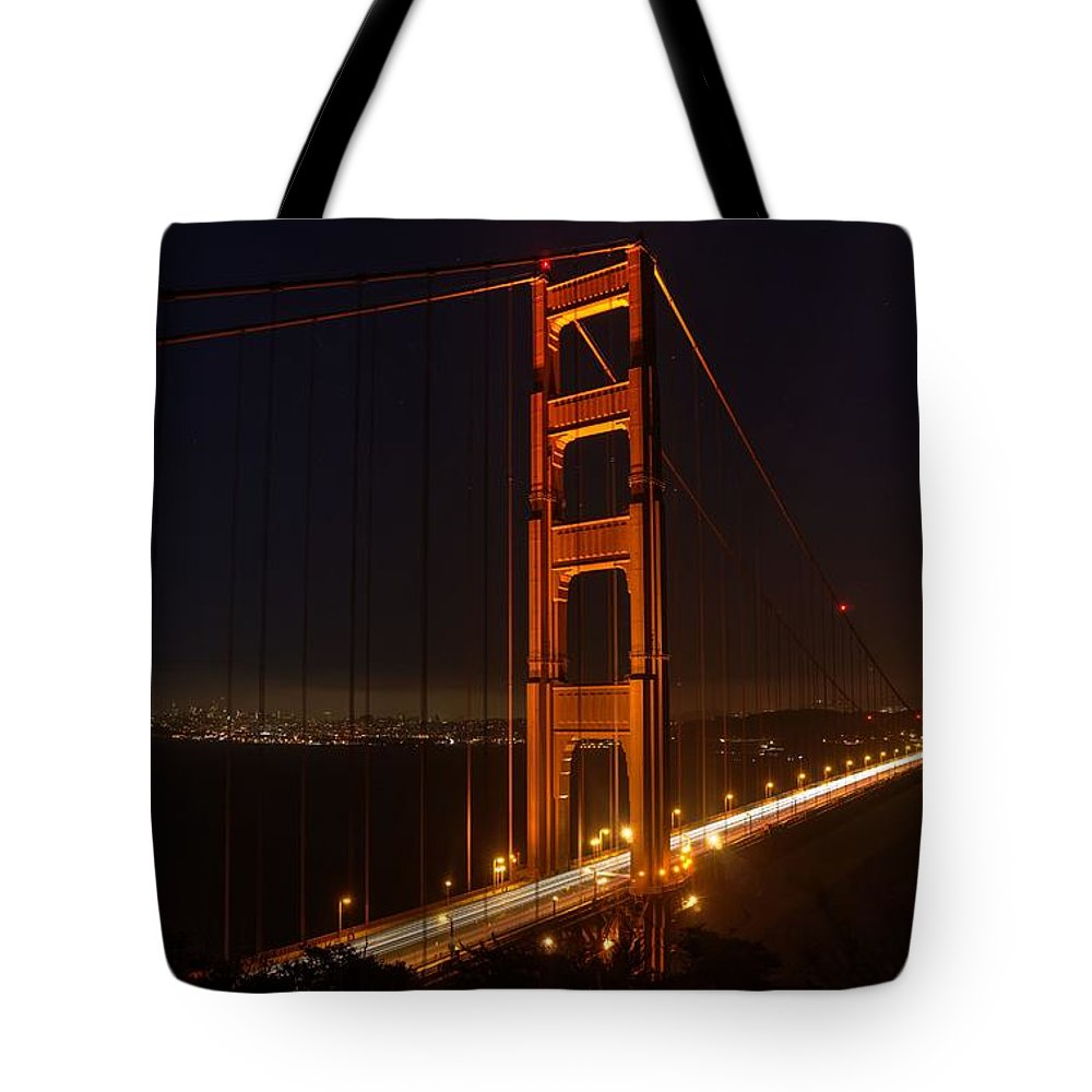 Golden Gate Tote Bag featuring the photograph Wish You Were Here by Peter Thoeny