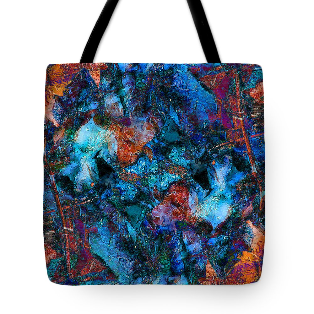 Abstract Tote Bag featuring the photograph Wishbones And Wire by Stephanie Grant