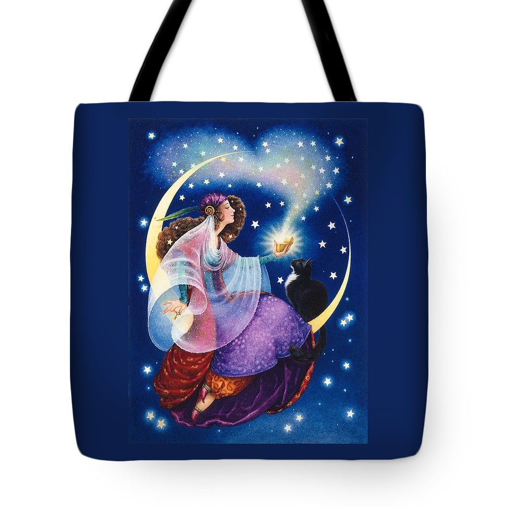 Gypsy Tote Bag featuring the painting Wishes by Lynn Bywaters