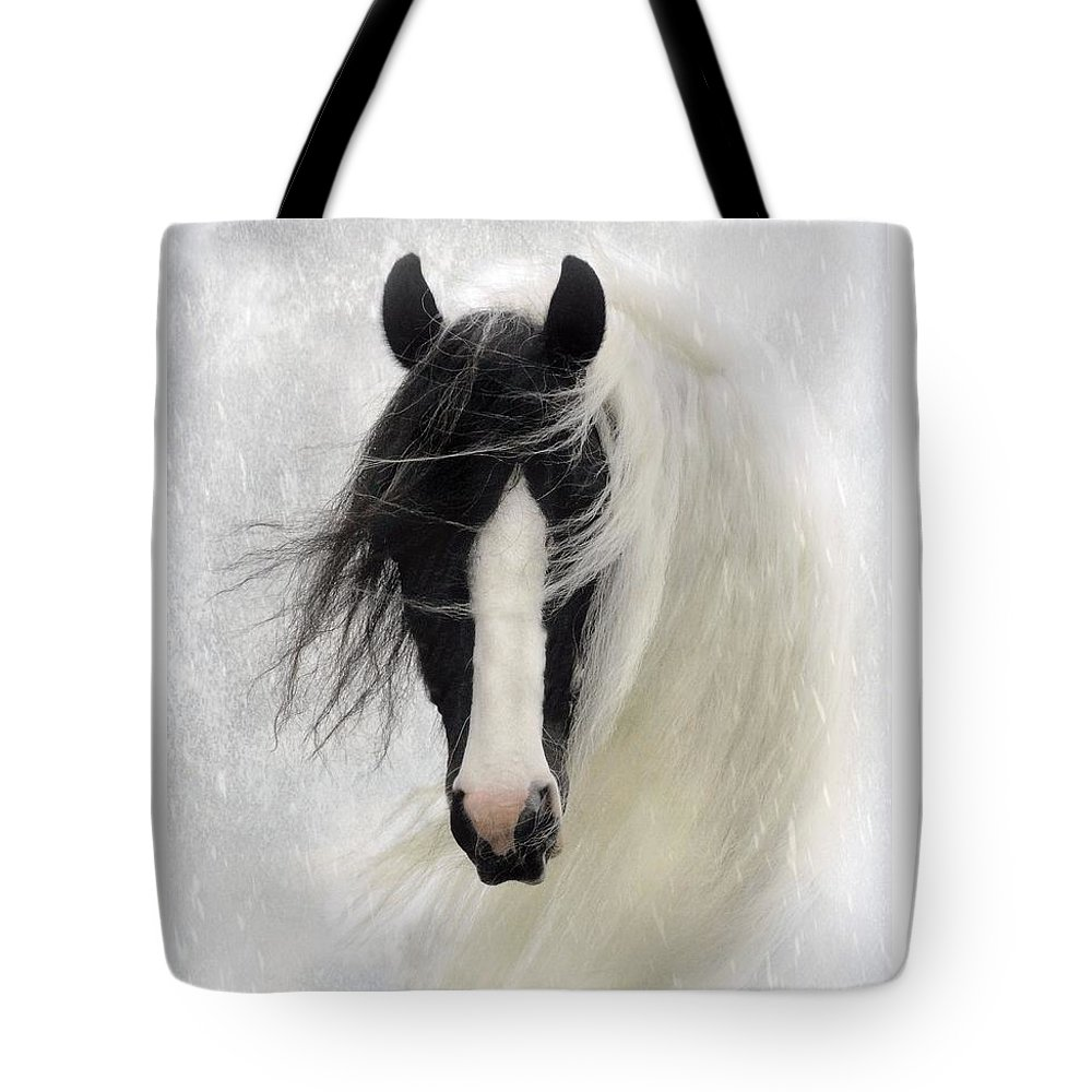 Horses Tote Bag featuring the photograph Wisteria by Fran J Scott