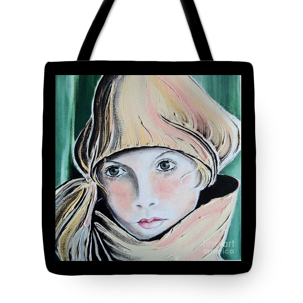 Pensive Tote Bag featuring the painting Wistful by Barbara Chase