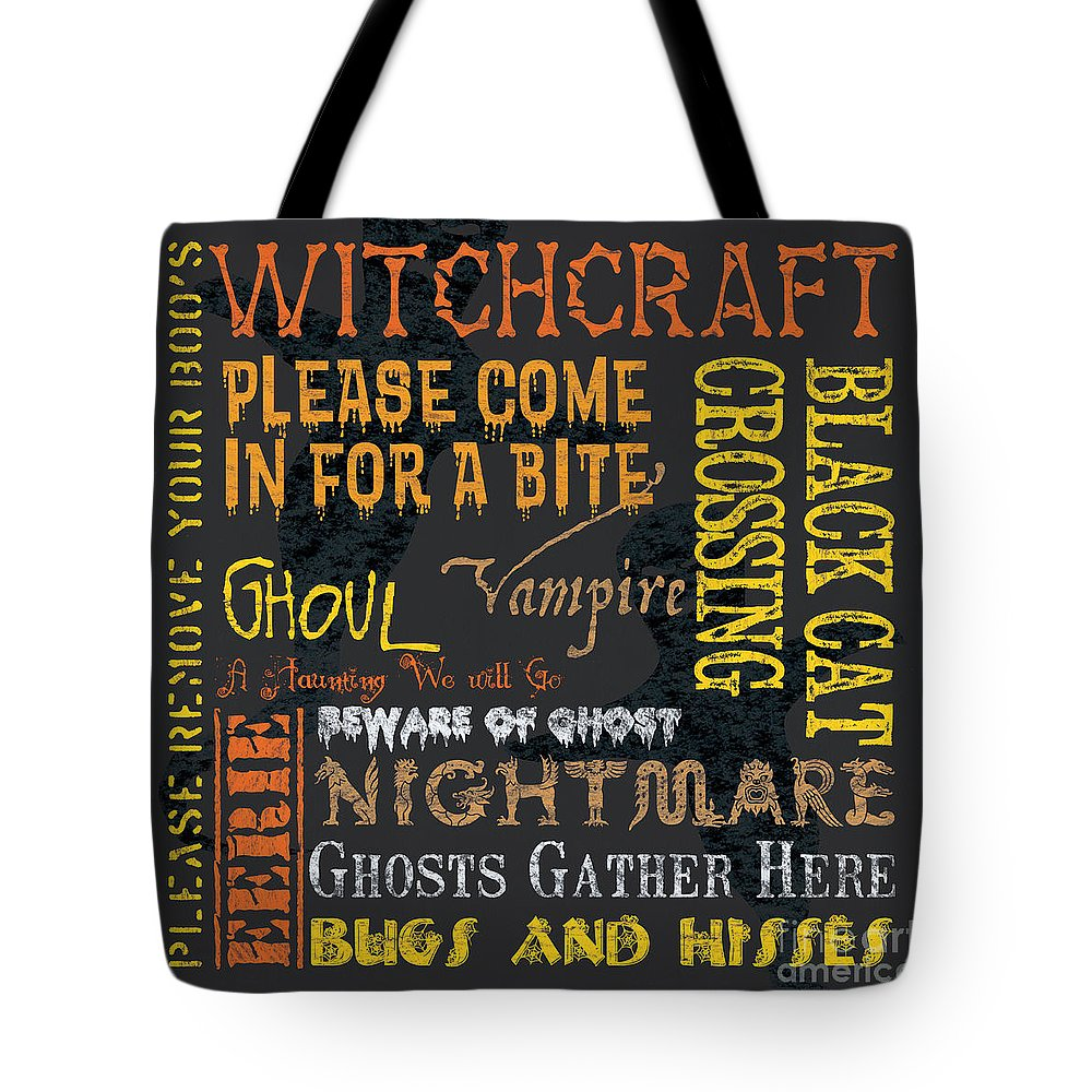 Halloween Tote Bag featuring the painting Witchcraft by Debbie DeWitt
