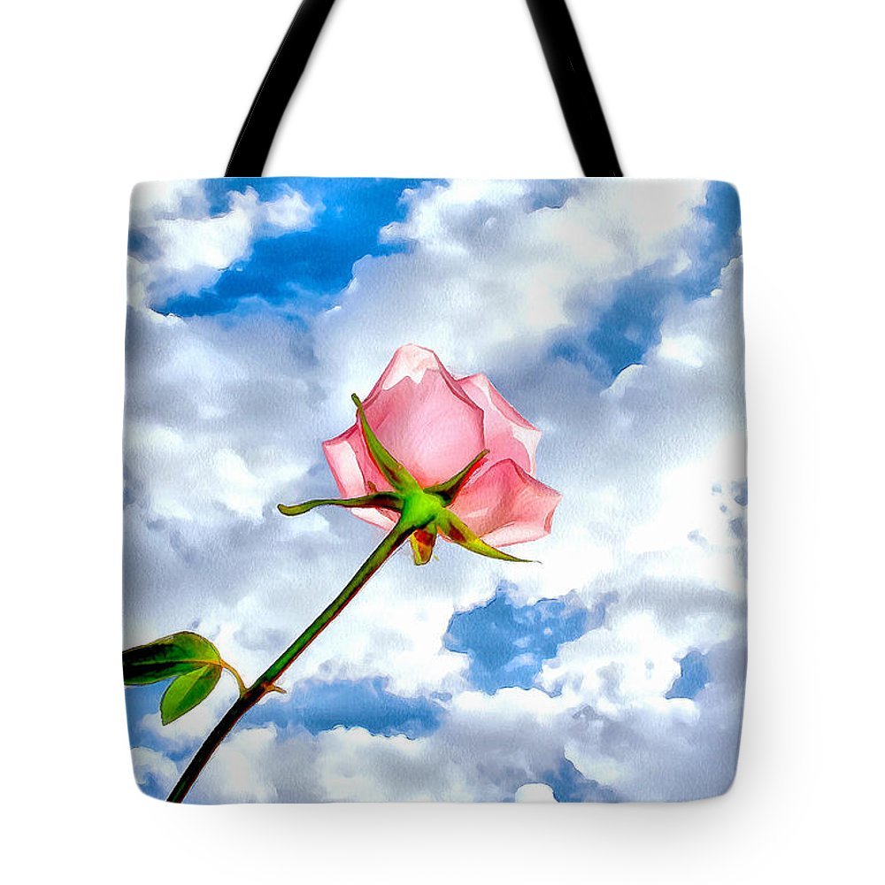 Rose Tote Bag featuring the photograph With You Always by Krissy Katsimbras