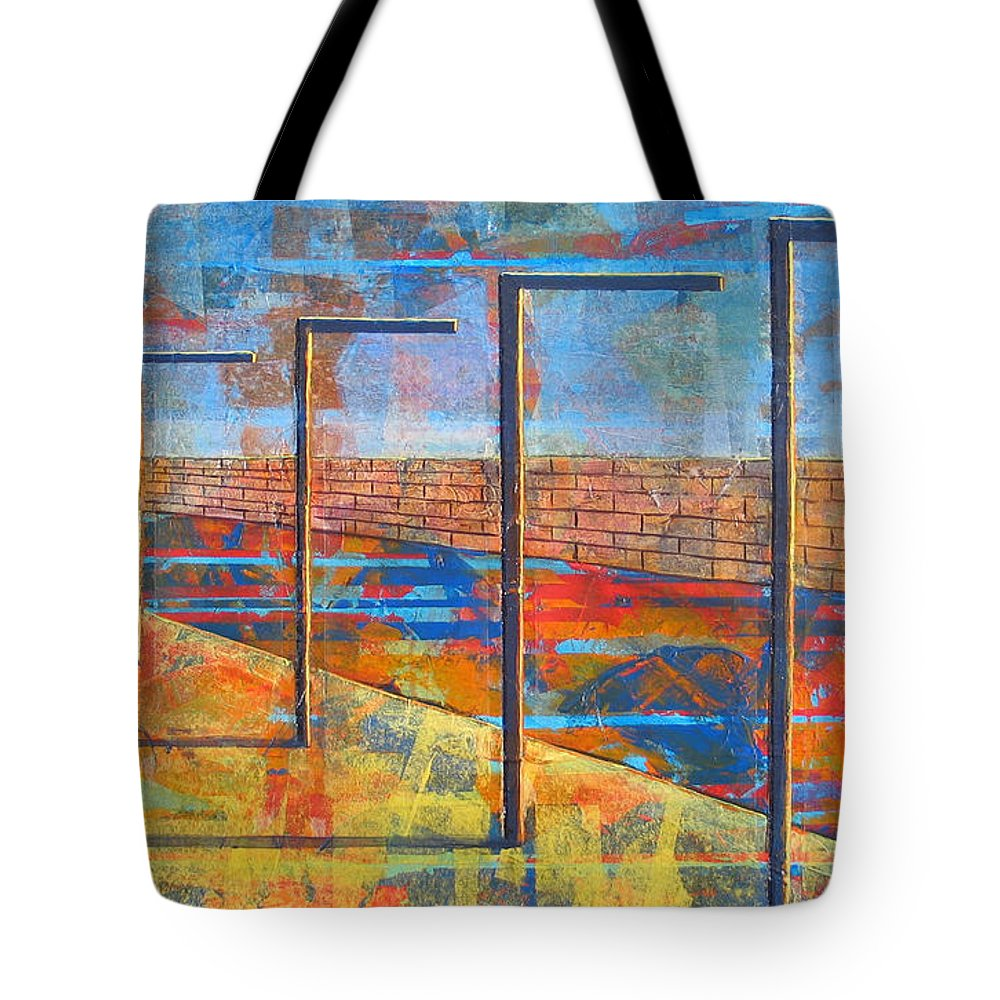 Landscape Tote Bag featuring the painting Within These Walls by Rollin Kocsis