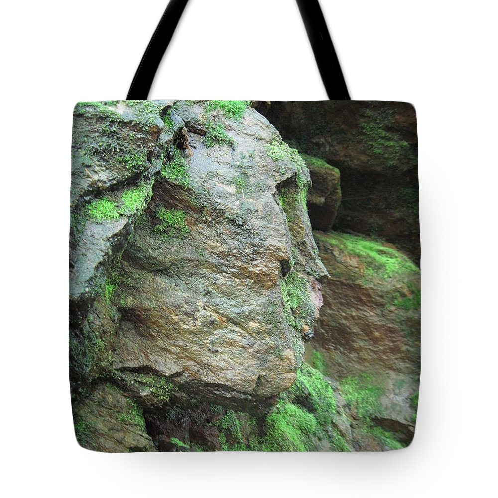 Landscapes Tote Bag featuring the photograph Woman In Rock by Diane Goulart