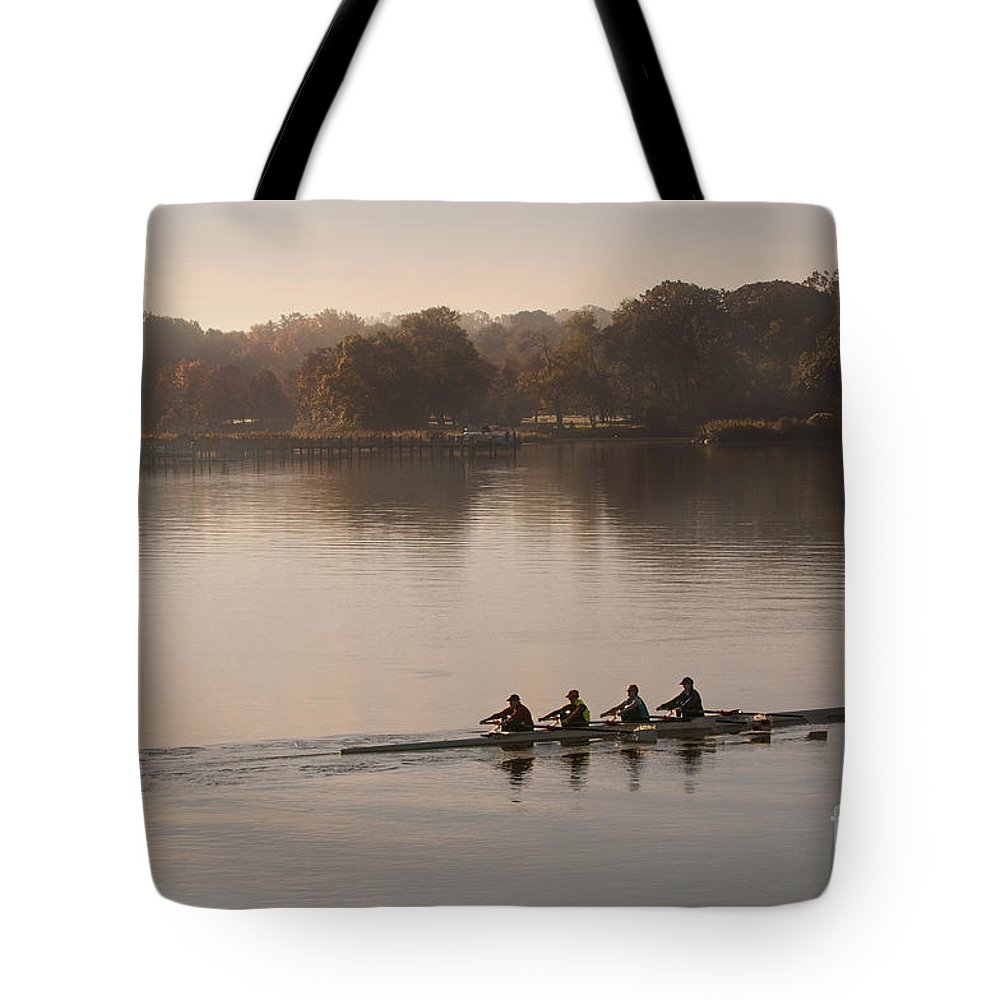 2013 Tote Bag featuring the photograph Women's Four On The Chester River by Lauren Brice