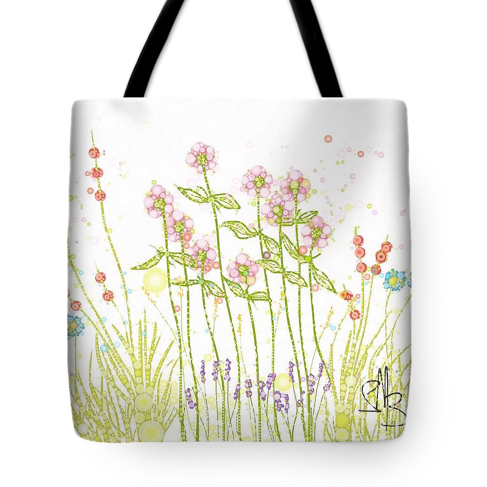 Flowers Tote Bag featuring the digital art Wonder Of It by Steven Boland