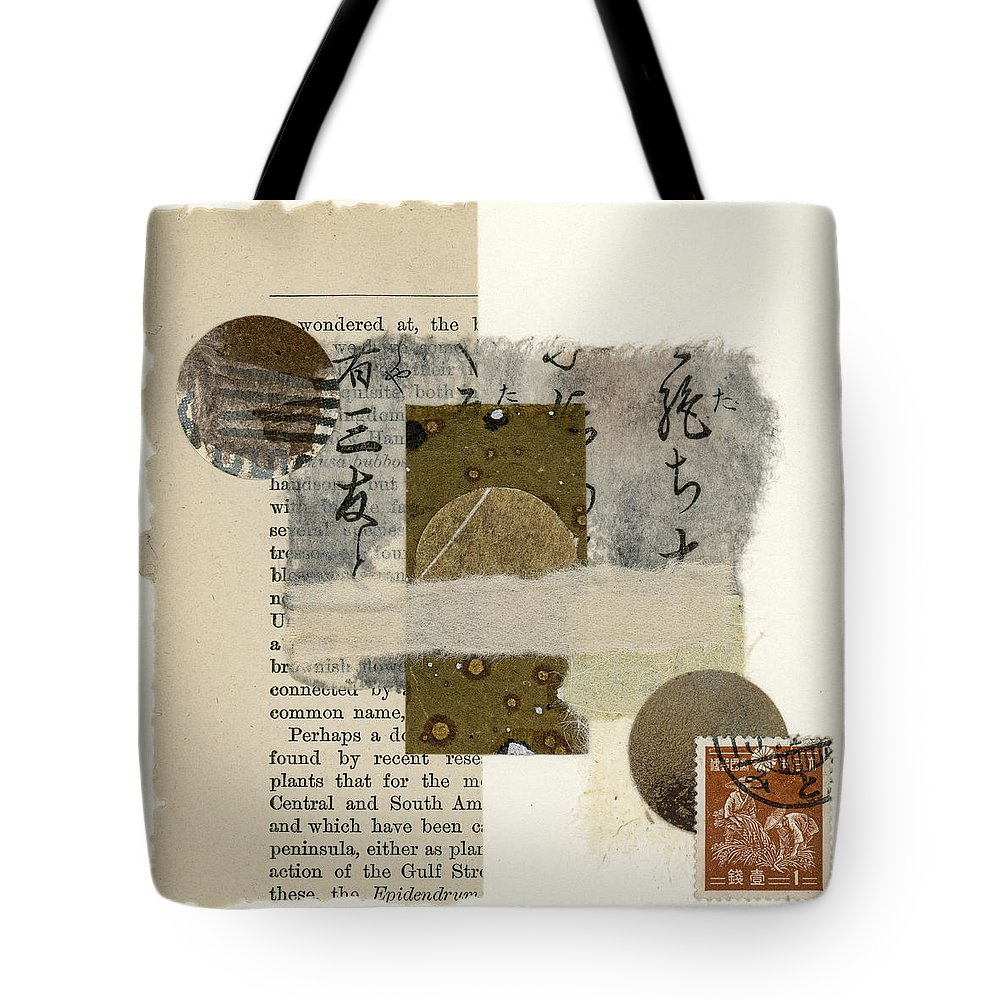 Collage Tote Bag featuring the mixed media Wondered At by Carol Leigh