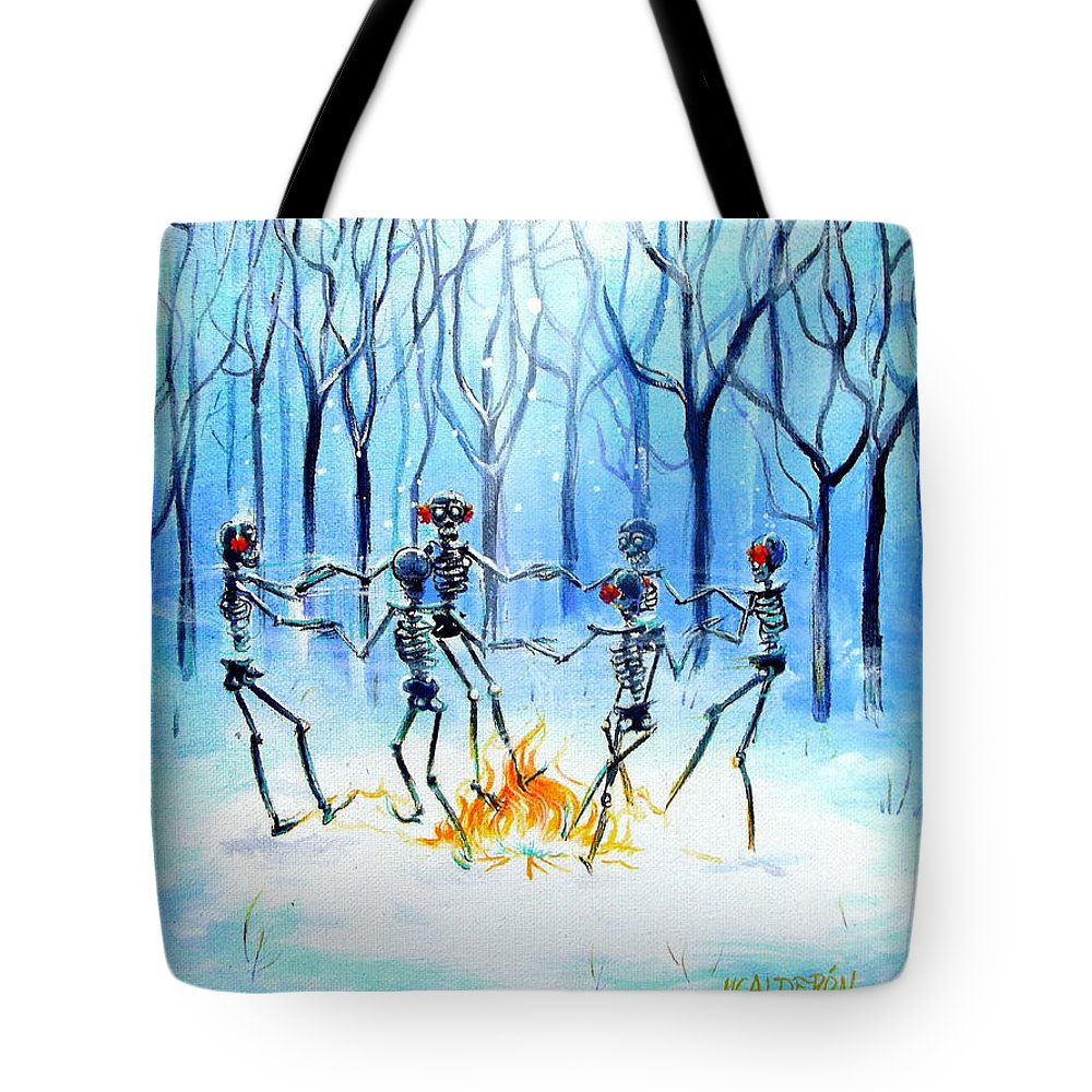 Day Of The Dead Tote Bag featuring the painting Wonderland Ring by Heather Calderon