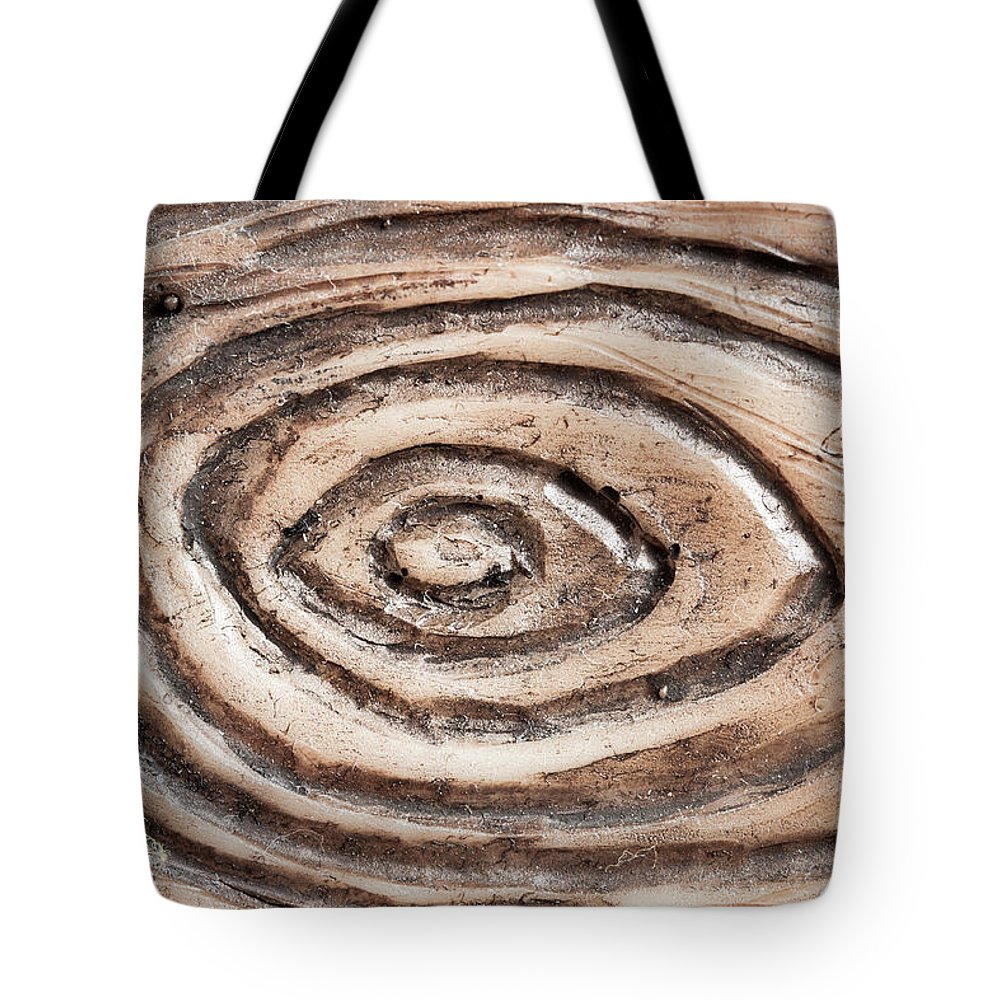 Abstract Tote Bag featuring the photograph Wood Patterm by Tom Gowanlock