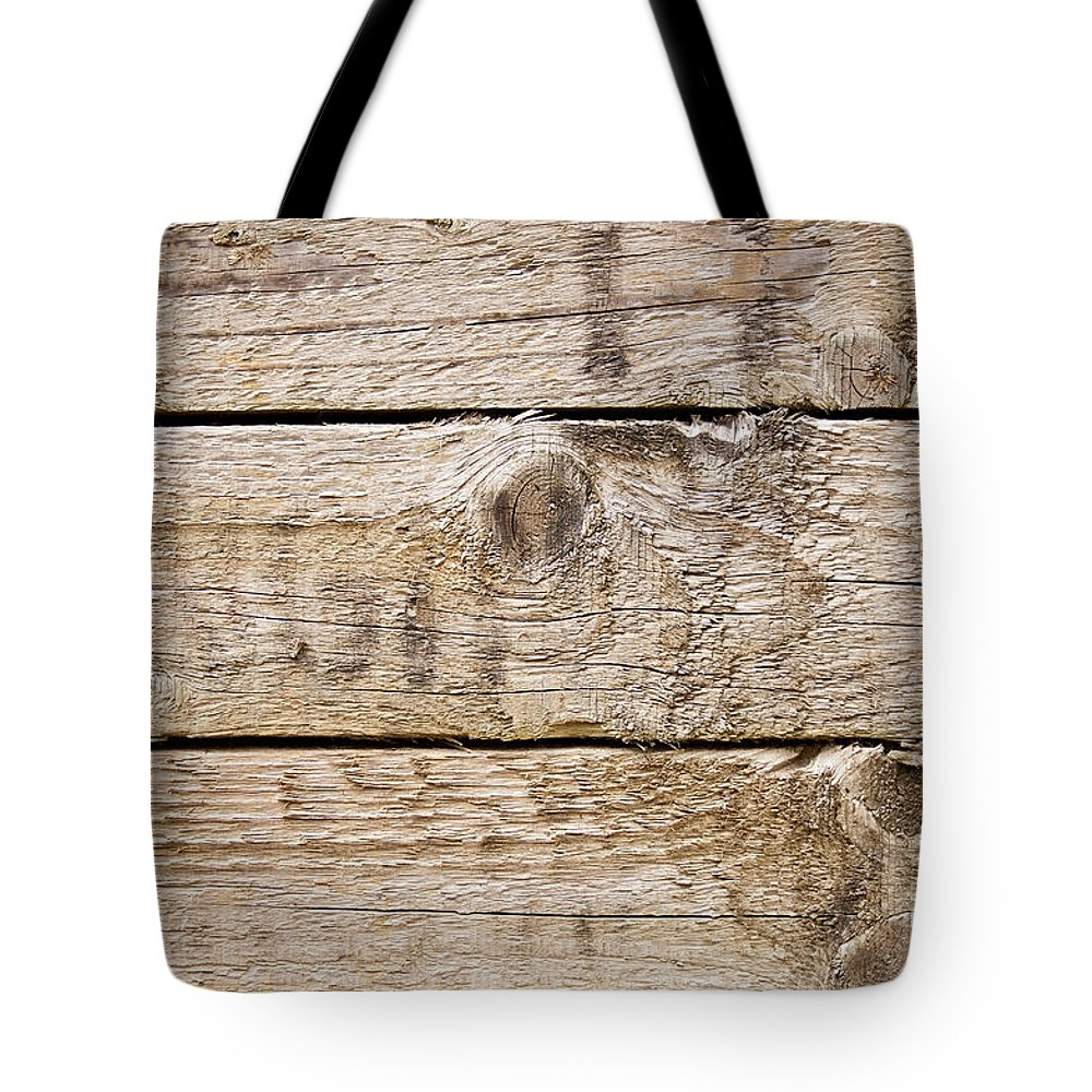 Wood Texture Tote Bag featuring the photograph Wood Texture by Tim Hester