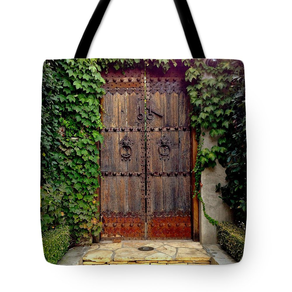 Wooden Gate Tote Bag featuring the photograph Wooden Gate by Julie Gebhardt