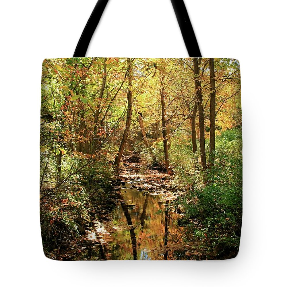 Woodland Brook Tote Bag featuring the photograph Woodland Brook by Robert McCulloch