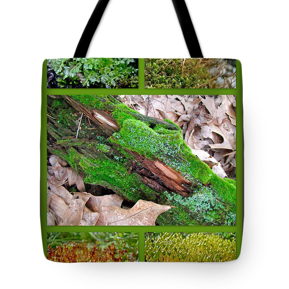 Moss Tote Bag featuring the photograph Woodland Mosses by Mother Nature