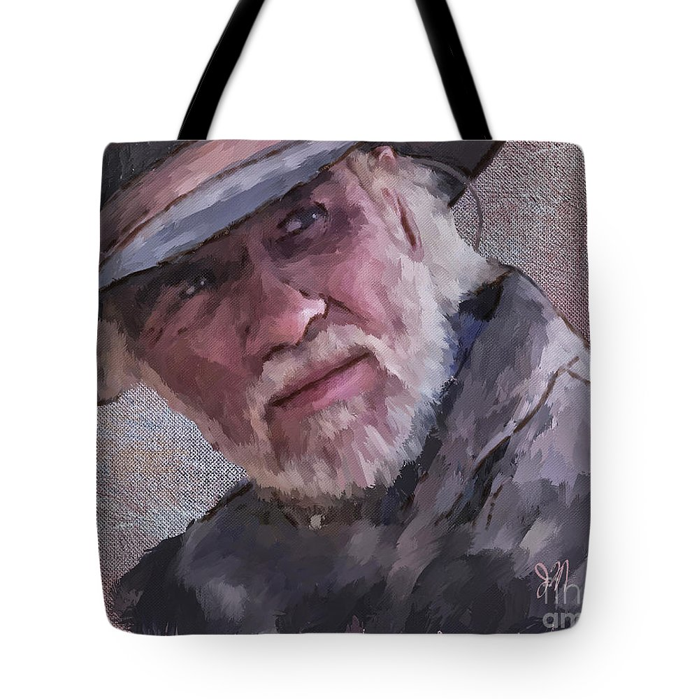 Woodrow Tote Bag featuring the painting Woodrow by Jack Milchanowski