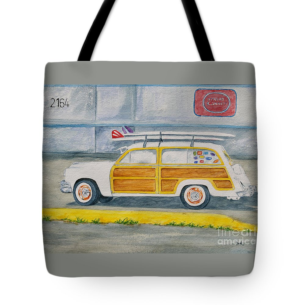 Woody Paintings Tote Bag featuring the painting Woody by Regan J Smith