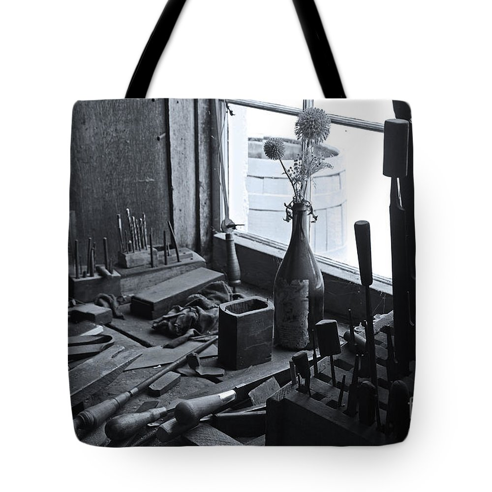 Workbench Tote Bag featuring the photograph Workbench by David Rucker