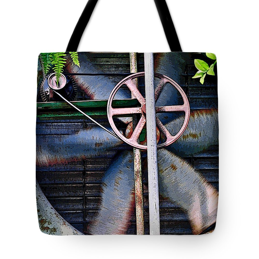 Fan Tote Bag featuring the photograph Working Old Fan by Kristi Swift