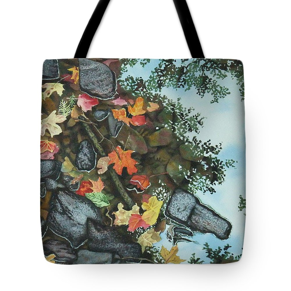 Watercolor Tote Bag featuring the painting World At My Feet by Karen Richardson