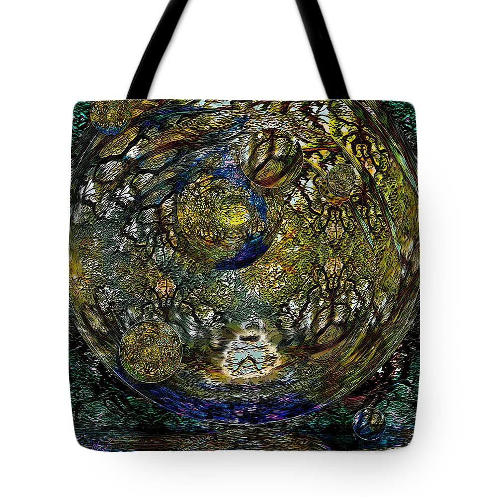 Planet Tote Bag featuring the painting World In Crisis Calls For Peace by Michele Avanti