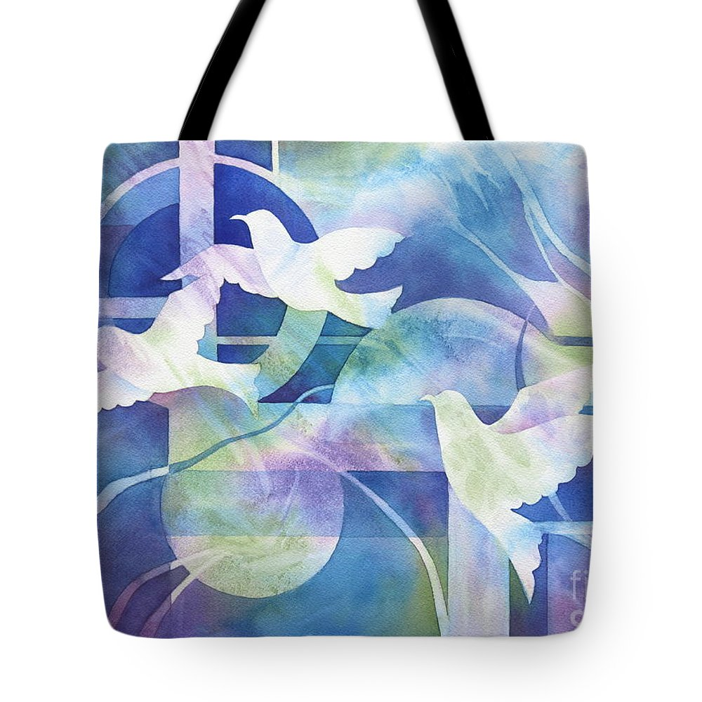 Peace Tote Bag featuring the painting World Peace by Deborah Ronglien
