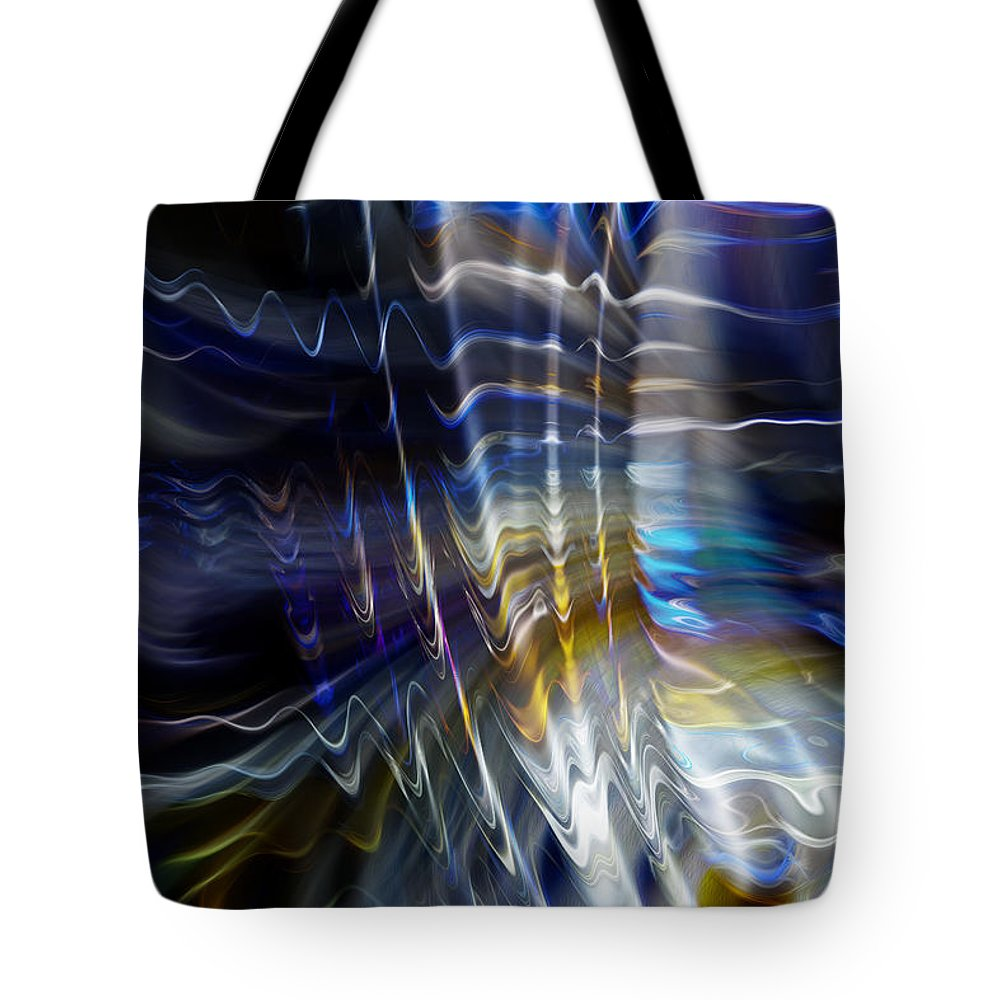 Abstract Tote Bag featuring the photograph Wormhole Flaring by Richard Thomas