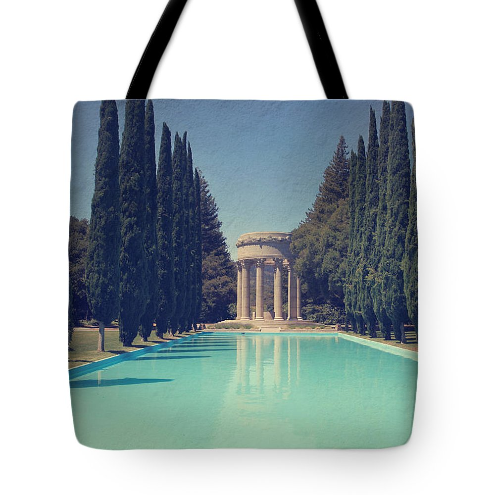 Pulgas Water Temple Tote Bag featuring the photograph Worship by Laurie Search